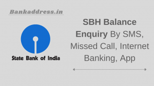 SBH Balance Enquiry By SMS, Missed Call, Internet Banking, App